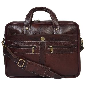 REDHORNZ Genuine Leather Bombay Brown Laptop/Office Bags Professionals for Men (Brown)