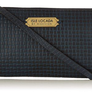 Isle Locada by Hidesign Spring-Summer 19 Women's Clutch (M Blue)