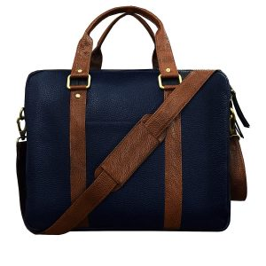 ABYS Genuine Leather Unisex Laptop Briefcase(15.6 inch)