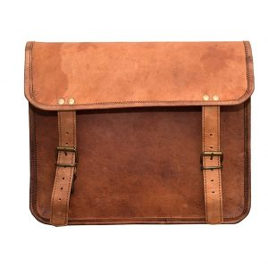 LLB Genuine Pure Real Original Leather Arts Leather Laptop Messenger Bag Cum Briefcase Brown – 03
